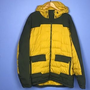 REI Yellow Down Puffer Jacket with Hood Size XXL
